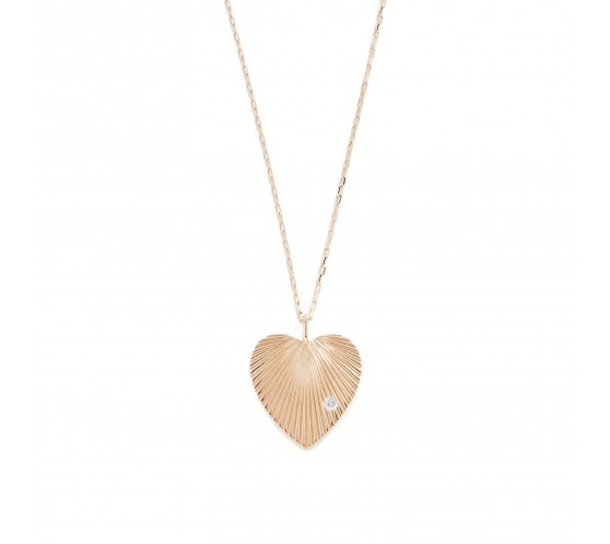COLLIER CHAINE OR 14K ET PENDENTIF...