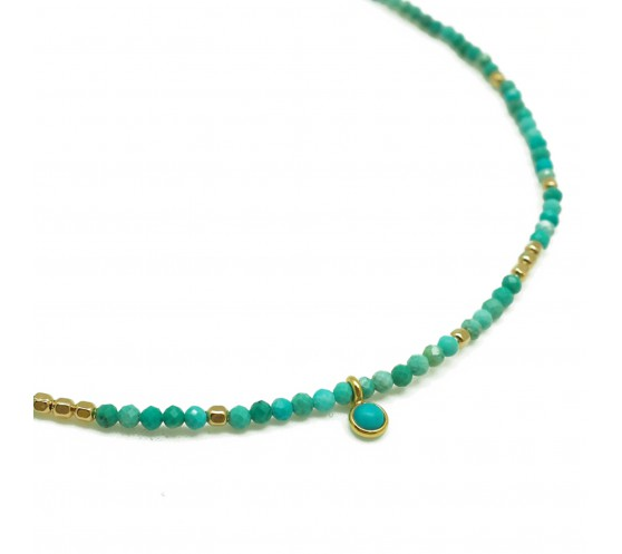 INDIA GATE - COLLIER TURQUOISES...