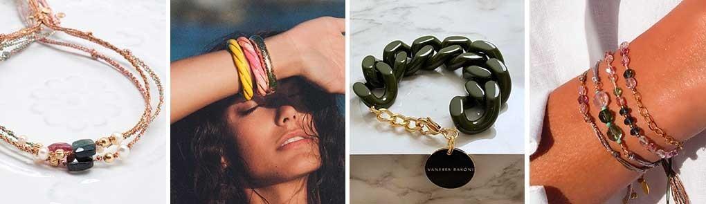 Bracelet plaqué or & pierres semi précieuses pour femme | By Johanne